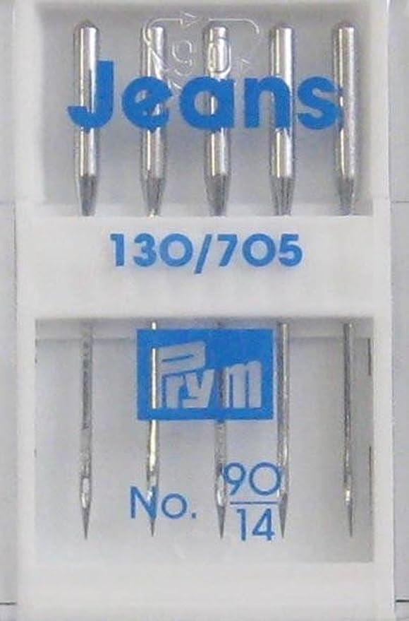 Agujas para Máquinas de Coser 130/705 JEANS 90: Amazon.es: Hogar