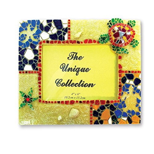 Rockin Gear Picture Frame Turtle Sandstone Mosaic Tile Frame 4 x 6 Photos for Wall and Table Top -