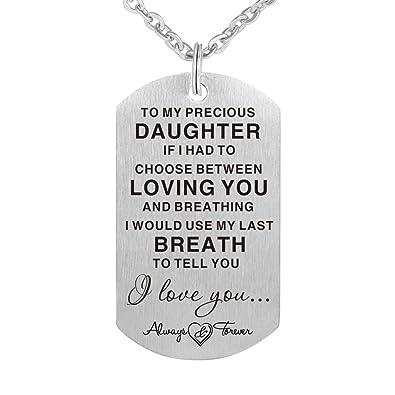 Amazon.com: Collar de regalo para hija con texto en inglés ...