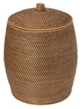KOUBOO Rattan Beehive Hamper with Liner, Honey Brown
