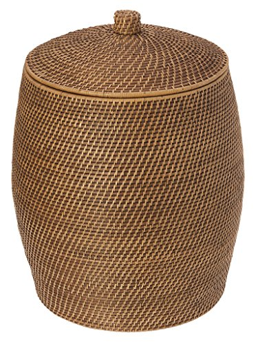 KOUBOO Rattan Beehive Hamper with Liner, Honey Brown (Hampers Rattan)
