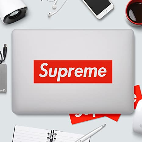 Supreme Sticker - Pegatinas de vinilo impermeables para ordenador portátil, coche, casco, monopatín