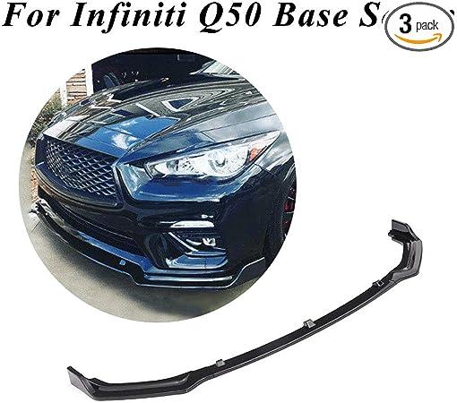 3X For Toyota Camry SE//XSE 2018 Mirror Black Front Bumper Lip Spoiler Cover Trim
