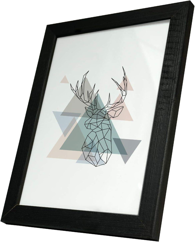 Artepoint Holz Bilderrahmen Natur von 9x13 bis 50x70 Querformat und Hochformat zum Aufh/ängen Rahmen KIEFERNHOLZ Farbe Format 50x70 Schwarz