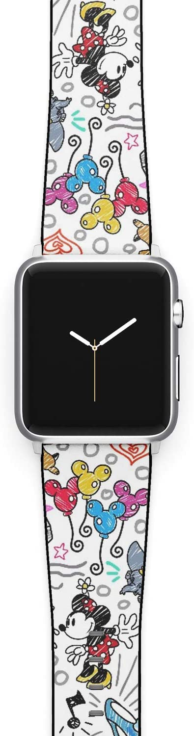 Watch Band Compatible with Apple iWatch All Series 38mm 40mm 42mm 44mm Cartoon Design Strap (mouse1) (38/40mm)