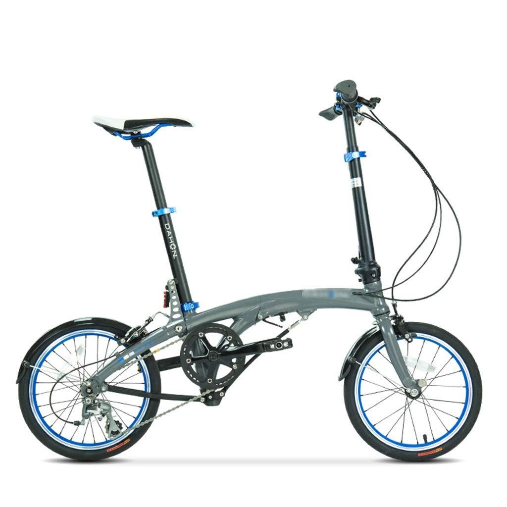 折りたたみ自転車 折りたたみ自転車アルミ合金シフト男女自転車16インチホイール変速フリースタイル (Color : Gray, Size : 16 inch) Gray 16 inch