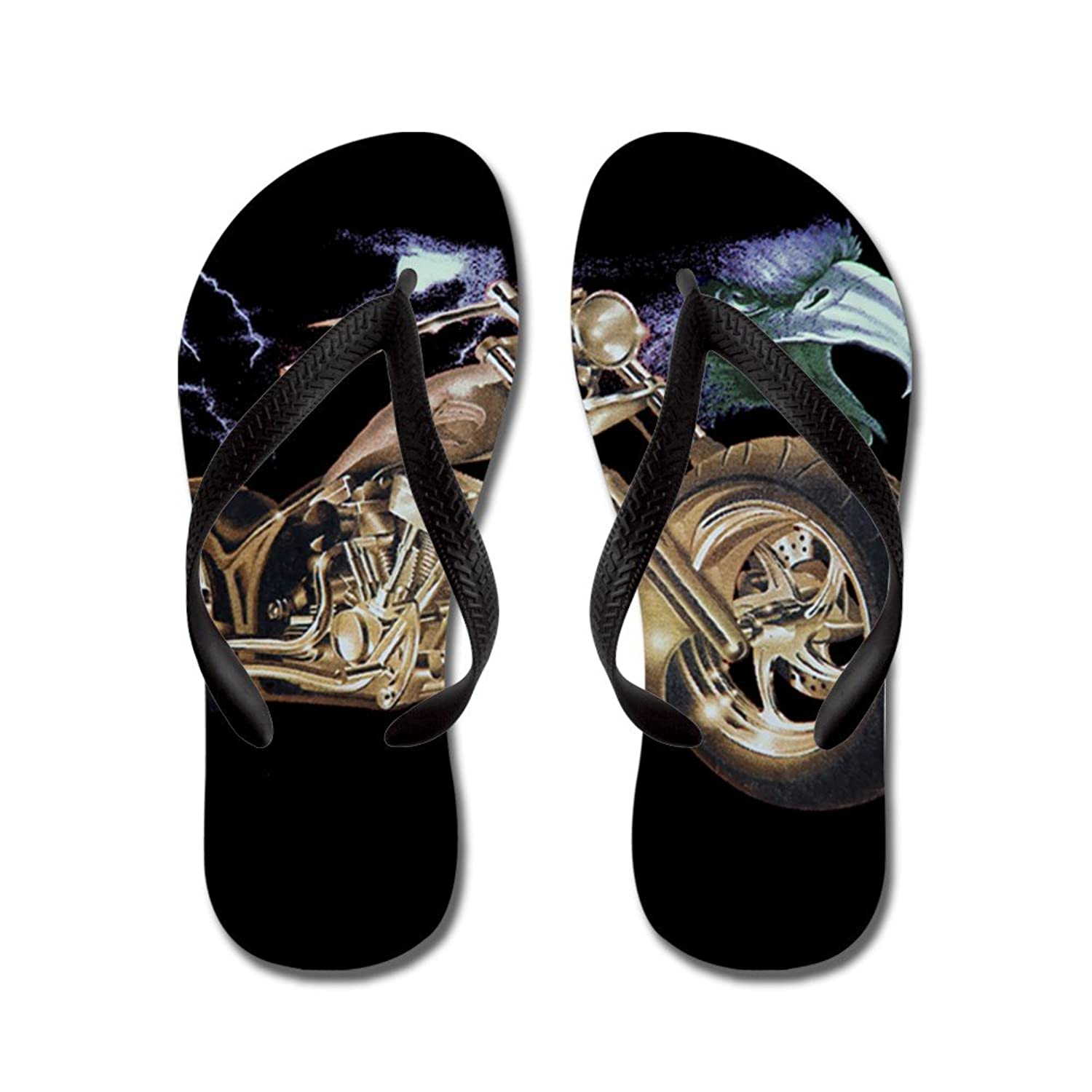 0a9a2f3647654 Royal Lion Men s Eagle Lightning and Motorcycle Rubber Flip Flops Sandals  free shipping