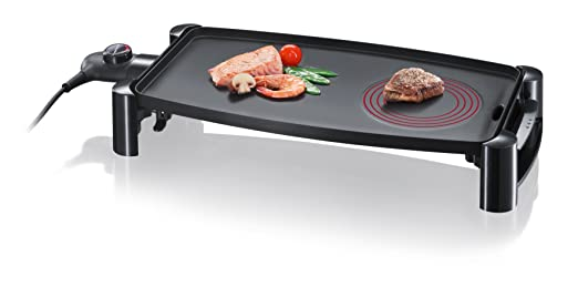 SEVERIN KG 2388 Barbacoa de Mesa con Hot Zone, 2.200 W, color negro