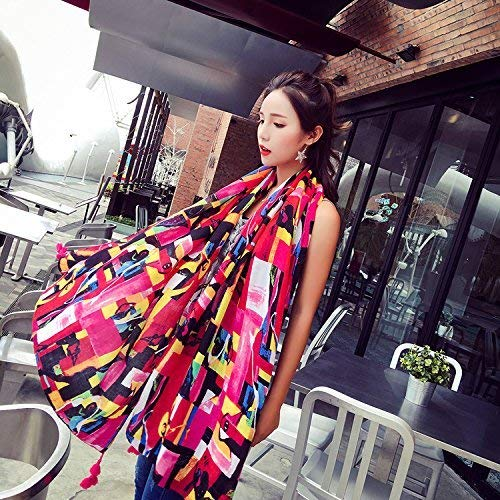 JINGB Home ScarfCotton Scarf Scarf Shawl Scarf Sunscreen Imitation Cashmere Scarf Female Autumn and Winter Korean Students Knitted Shawl Long