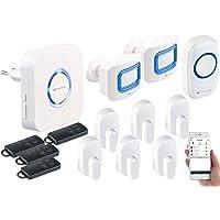 VisorTech Türklingel: 14-TLG. WLAN-Alarmanlage, Klingel, Alexa-kompatibel, bis 50 Sensoren (Funk Alarmanlage)