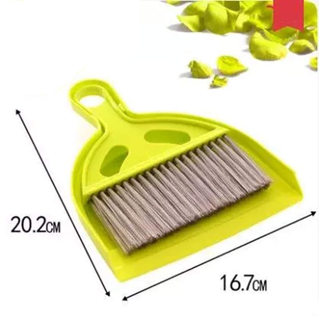Lsxlsd Mini Whisk Broom And Dustpan Set,Compute Brush Keyboard Desktop Cleaning Small Broom,Great For Cleaning Compact Spaces - Cars, Offices, Bathrooms, Kitchen Counters, Drawers, And More! (yellow)