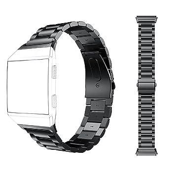 Para Fitbit Ionic Correa, MeiC Power Acero inoxidable Sólido ...