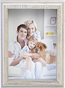MEMOLIN Shadow Box Frame Display Case 100% Wood Rustic Deep Picture Glass 5x7 Memory Box Wall-Hanging Free-Standing 3D Showcase