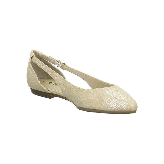 Tamaris Mary Jane Escarpins blanc 1 29400 26 117 cuir blanc