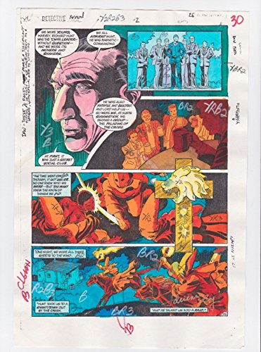 DETECTIVE COMICS ANNUAL #2 PAGE 26 BATMAN COMIC PRODUCTION ART SIGNED A.ROY COA