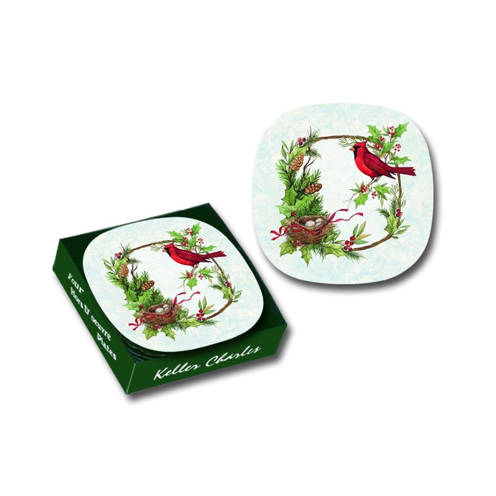 Christmas Cardinal Melamine Appetizer Plates