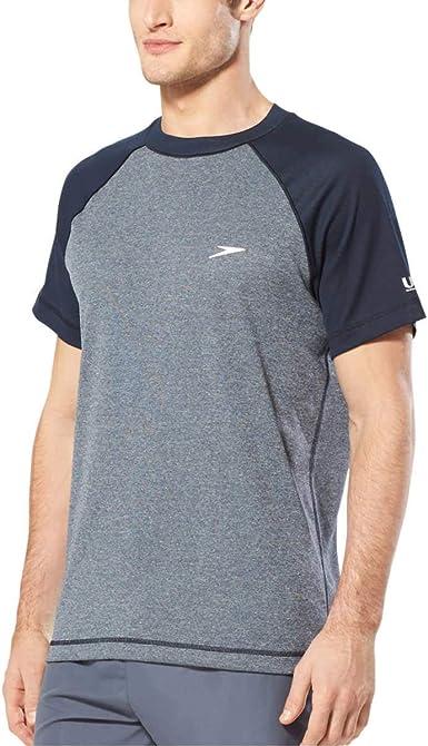 Speedo - Camiseta de protección solar para hombre: Amazon.es: Ropa y accesorios