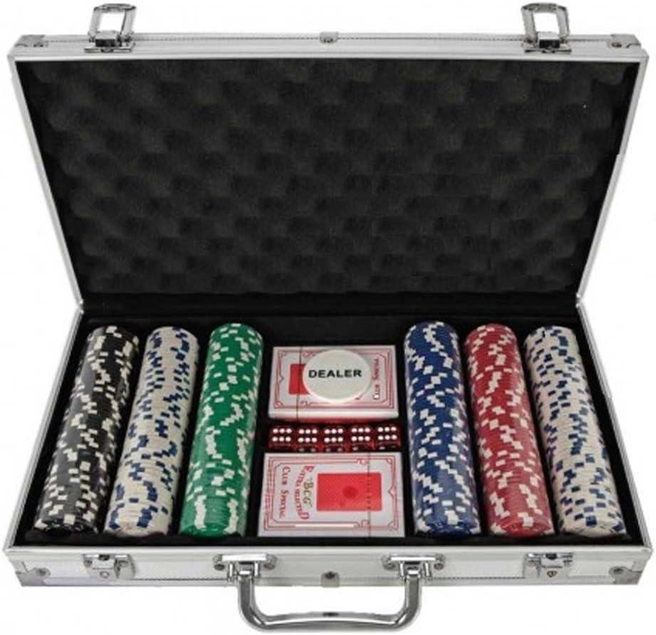300 Piece Poker Chip Set in Aluminium Case by Gift Universe Ltd: Amazon.es: Juguetes y juegos