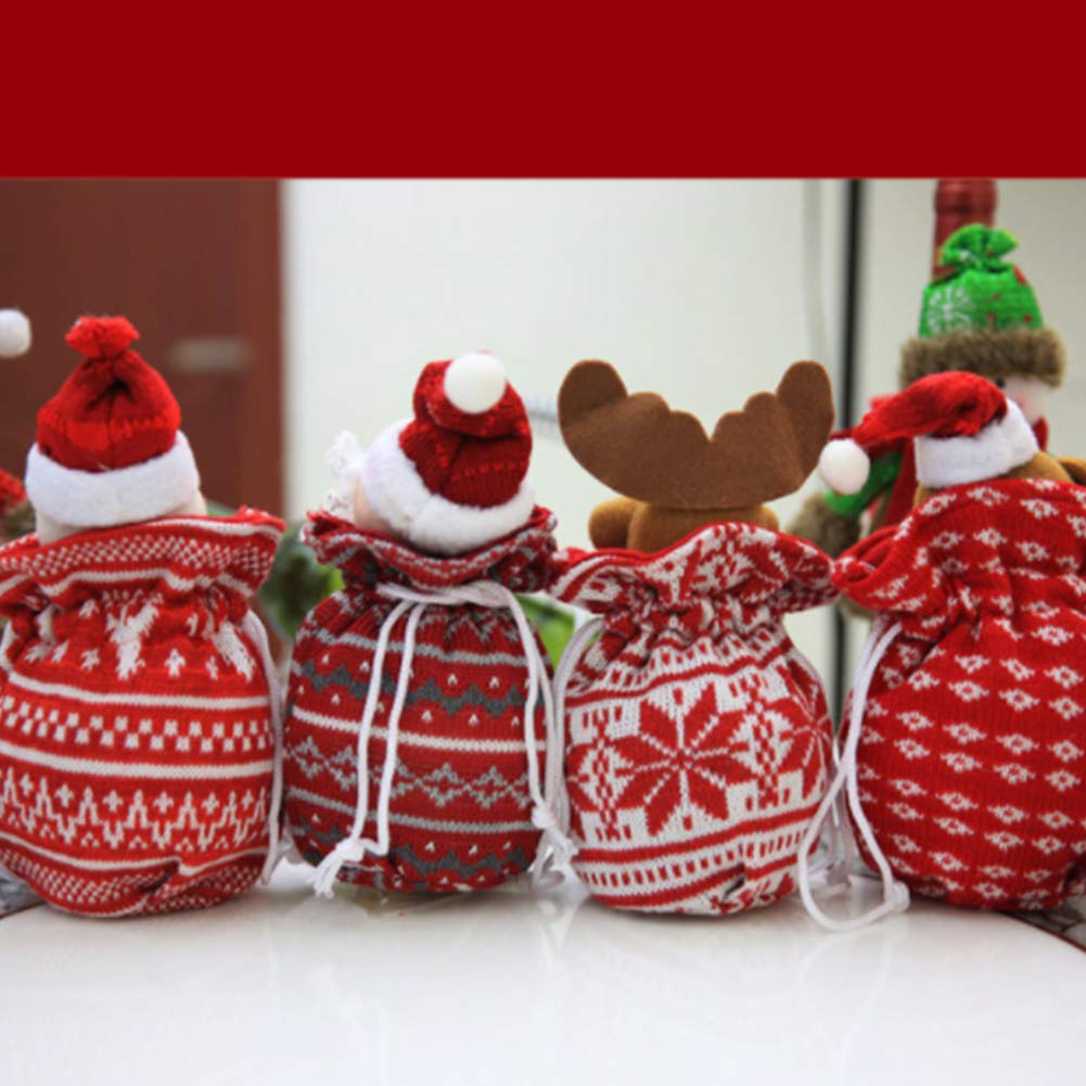 YaptheS Christmas Apple Bag Cute Snowman Doll Knitted Candy Cookie Bag Pendant Kids Xmas Gift Party Decoration Christmas Gift by YaptheS (Image #4)