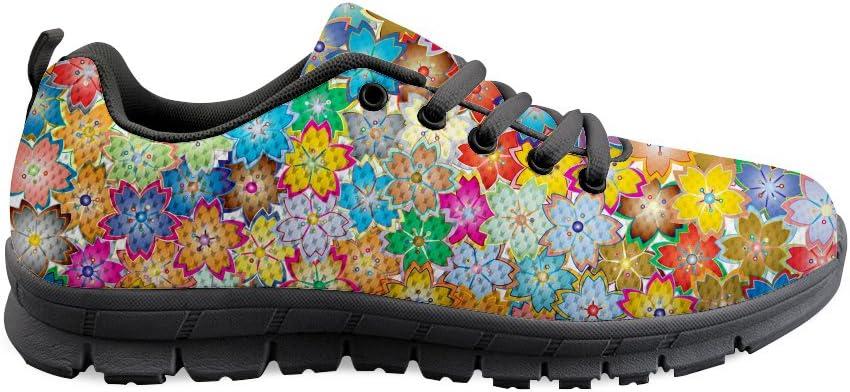 AXGM - Zapatillas de Correr para Hombre, Zapatillas para Correr, Zapatillas para Correr, Coloridas Flores, Estampadas, Modernas, Transpirables, para Fitness: Amazon.es: Zapatos y complementos