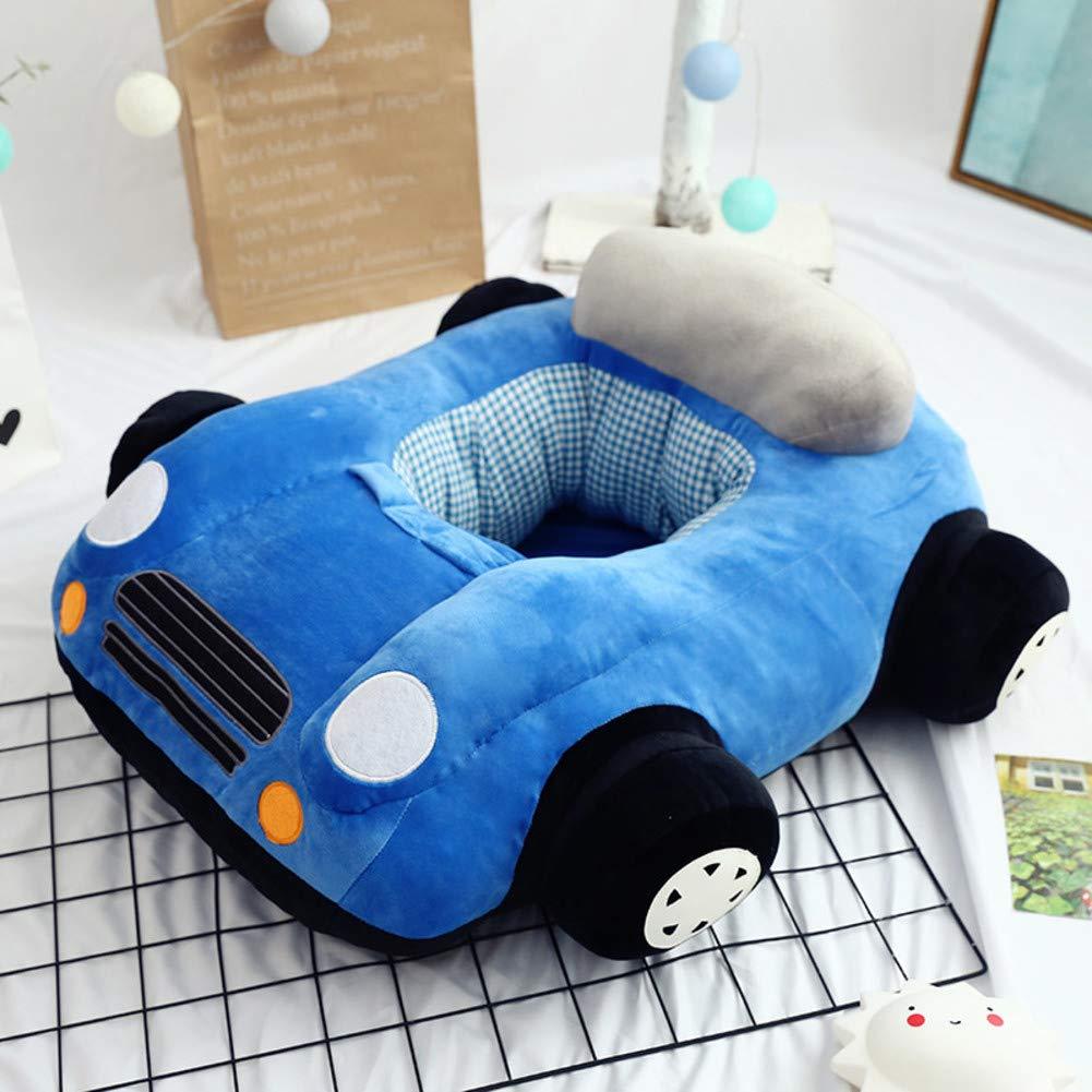 V&K Cartoon Kids Sofa,Plush Anti-Fall Kid Sofa Bed Car Lovely Upholstered Chair Toddler Furniture for Living Room -Blue 706520cm(2925.57.8in)