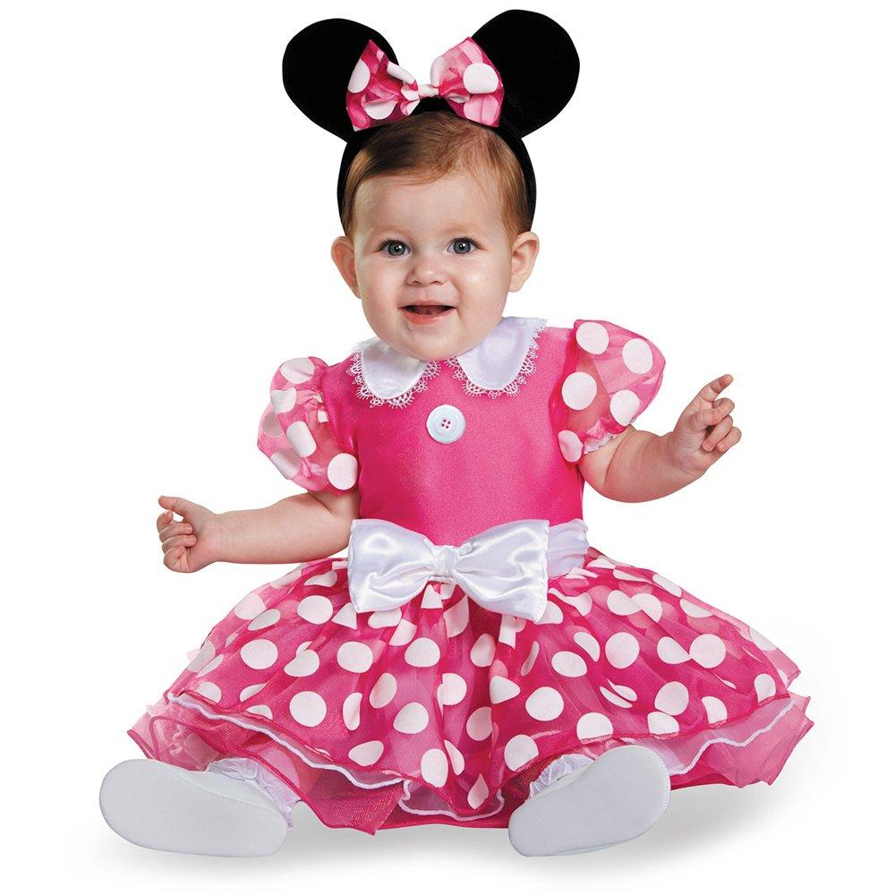Disguise Baby Girls' Pink Minnie Prestige Infant Costume, Pink, 12-18 Months by Disney