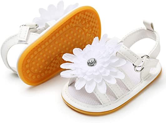 Baby Boys Girls Sandals Anti-Slip Rubber Sole First Walker Prewalker Summer Shoes Infant Sandals for Toddler Girls