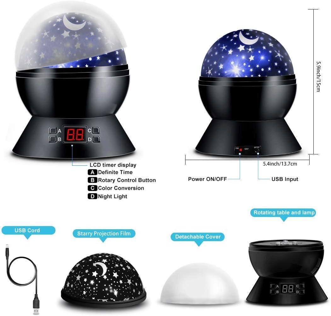 Star Projector Night Lights for Bedroom