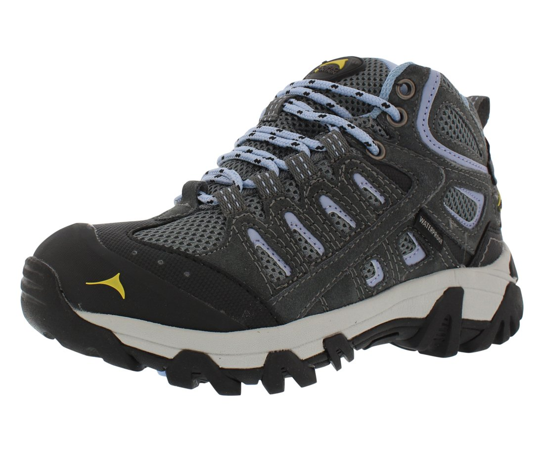 Pacific Mountain Blackburn Mid Wp Hiking Women's Shoes B07CN9P7FG 8 M US|Grey/Kentucky Blue