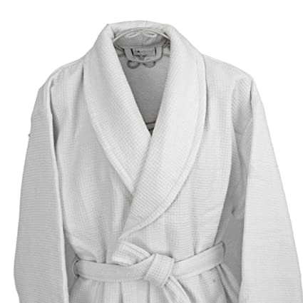Homescsapes XXL Men s and Women s Waffle Terry Towelling Bathrobe with  Shawl Collar White - 100% Cotton Dressing Gown  Amazon.co.uk  Kitchen   Home e21402438