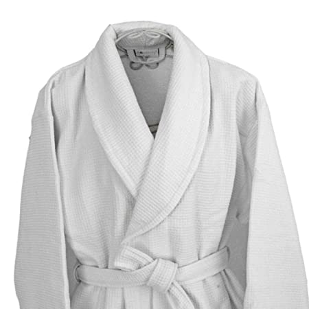 Homescsapes L/XL Men\'s and Women\'s Waffle Terry Towelling Bathrobe ...