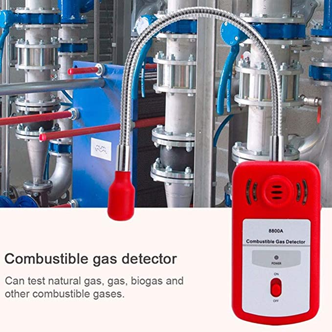 putdWH99 Tool | Portable Combustible Flammable Gas Detector Leak Methane Tester with Alarm Light - Red - - Amazon.com
