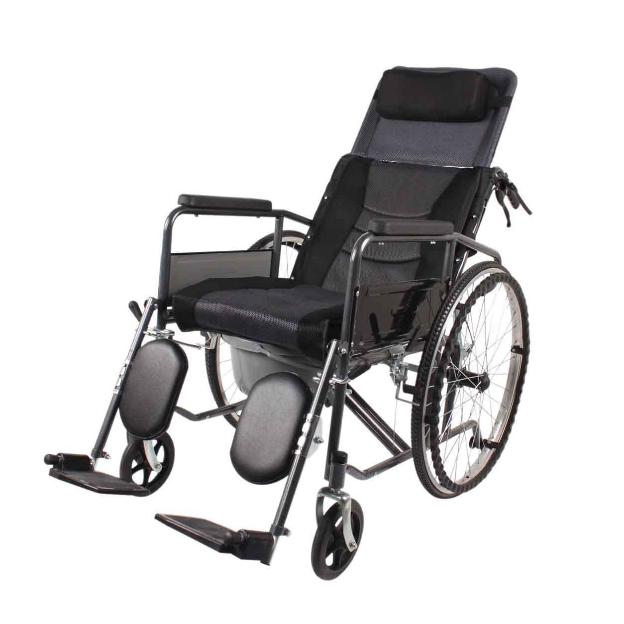 YANGLIYU Wheels Folding Self Propelled Wheelchair,Attendant-Propelled Wheelchair,Lightweight Folding Transit Travel Wheelchair ,Fully Lying Multi-Function Hand Scooter,Black