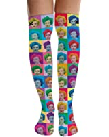 Odd Sox Women's Blondie Knee High Socks Multi-Color