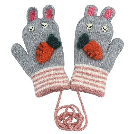 Baby Boys Girls Winter Gloves For Children Warm Baby Soft Cotton Cute Cartton Versatile Half-finger Gloves Mittens Warm Gloves & Mittens Accessories