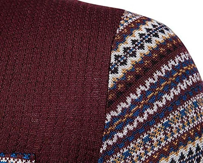 Saoye Fashion męski sweter męski bluza dekolt V długi rękaw sweter dziergany ubranie sweter dziergany casual długi rękaw nadruk sweter z kieszeniami: Odzież