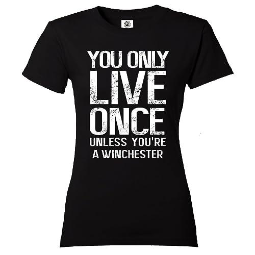 Yolo Supernatural Winchester maglietta da donna