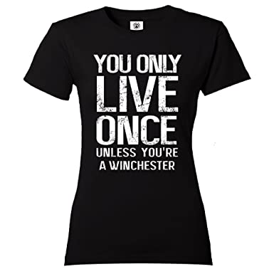 Yolo T Shirt Pour Femme Supernatural Winchester Amazon Fr