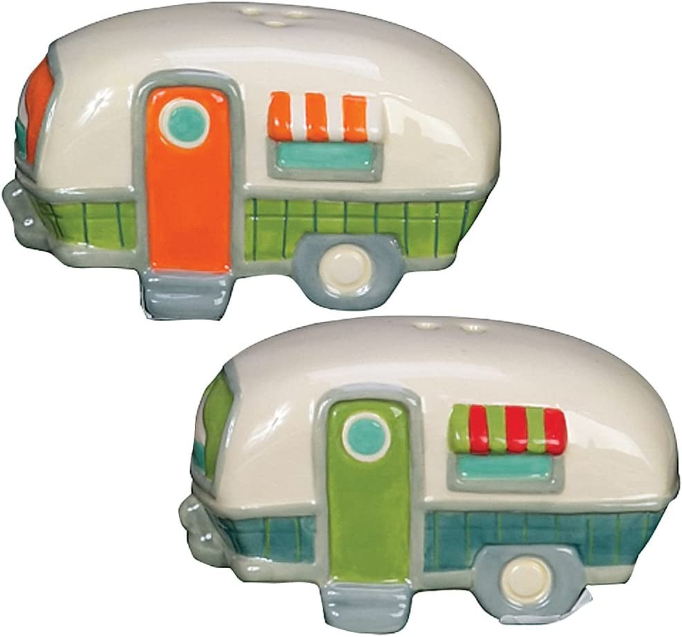 Camper Salt and Pepper Shakers