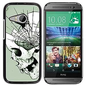 GOODTHINGS ( NO PARA HTC ONE M8 ) Funda Imagen Diseño Carcasa Tapa Trasera Negro Cover Skin Case para HTC ONE MINI 2 / M8 MINI - death metal araña cráneo de Halloween