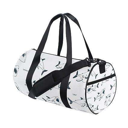 062dcd3fe4b6 Amazon.com | Shark Cute Duffle Bag Travel Sports Bag Big Gym Bag for ...