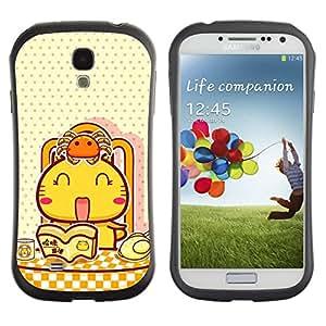 Suave TPU GEL Carcasa Funda Silicona Blando Estuche Caso de protección (para) Samsung Galaxy S4 I9500 / CECELL Phone case / / Cute Japanese Happy Cat /