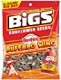 BIGS Frank's RedHot Buffalo Wing Sunflower Seeds, 5.35-Ounce Bags (Pack of 12)