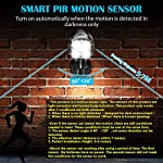 【2020 Upgraded】Motion Sensor Light Outdoor, CrazyFire IP65 Waterproof 600lm Super Bright Security Light Battery Powered…