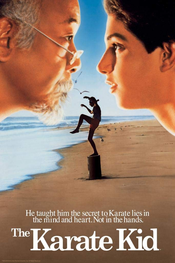 The Karate Kid Crane Kick Beach Theatrical Movie Poster 24x36 Inch