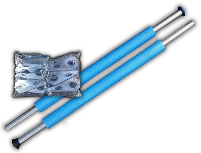 Trampolin Stangen 8 x 254 cm Inkl.16x Klammern für Sicherheitsnetz Randabdeckung