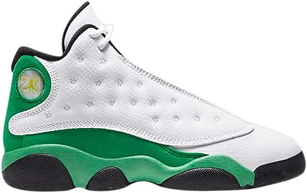 Amazon.com | Jordan Kid's Shoes Nike 13 Retro (PS) Lucky Green ...