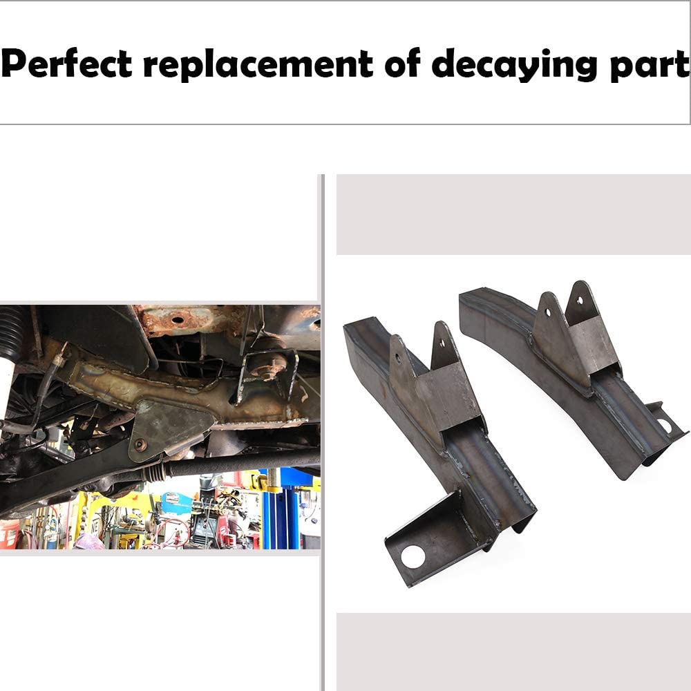 NIXFACE Front Driver and Passenger Trail Control Arm Frame Repair Fit for 97-06 Jeep Wrangler TJ LH RH