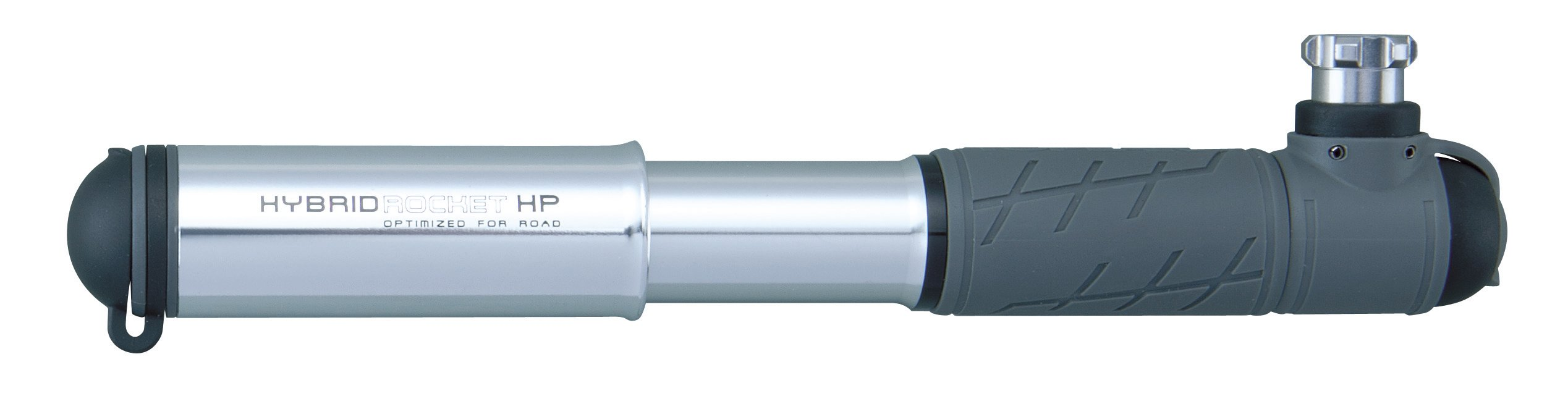 Topeak Hybrid Rocket HP Mini Pump without Cartridge(Silver/Black, 7.5 x 1.5 x 0.9-Inch)