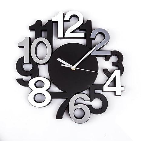 Reloj de pared silencioso - Estilo moderno - Color NEGRO